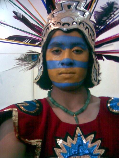 Yo Caracterizado como Huitzilopochtli